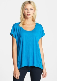 Eileen Fisher Scoop Neck Organic Linen Top (Regular & Petite)