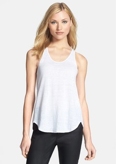 Eileen Fisher Scoop Neck Racerback Organic Linen Tank