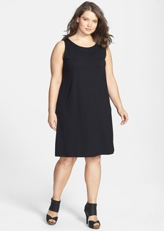Eileen Fisher Scoop Neck Shift Dress (Plus Size)