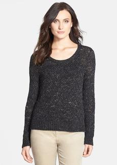 Eileen Fisher Scoop Neck Short Sweater (Regular & Petite) (Online Only)
