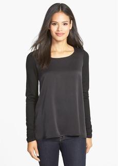 Eileen Fisher Scoop Neck Silk & Tencel® Top