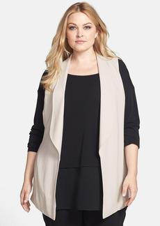 Eileen Fisher Shawl Collar Silk Vest (Plus Size)