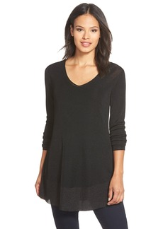 Eileen Fisher Shimmer V-Neck Tunic (Regular & Petite)