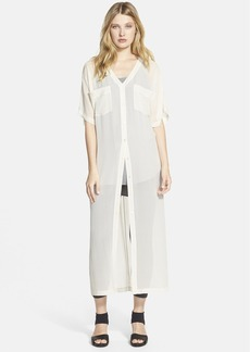 Eileen Fisher Short Sleeve V-Neck Maxi Dress