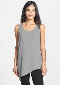 Eileen Fisher Side Drape Silk Shell (Regular & Petite)
