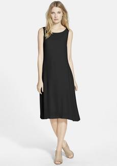Eileen Fisher Silk Ballet Neck Shift Dress (Online Only)