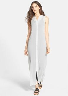 Eileen Fisher Silk Maxi Shirtdress
