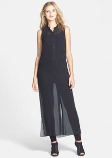 Eileen Fisher The Fisher Project Silk Maxi Shirtdress
