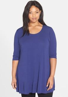 Eileen Fisher Silk Scoop Neck Tunic (Plus Size)