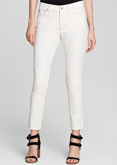 Eileen Fisher Skinny Ankle Jeans in Soft White