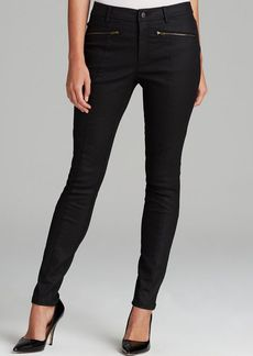 Eileen Fisher Skinny Moto Jeans in Black