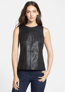 Eileen Fisher Sleeveless Leather Top