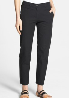 Eileen Fisher Slim Stretch Cotton Ankle Pants (Regular & Petite)