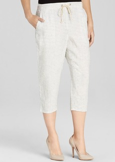 Eileen Fisher Slouchy Cropped Linen Pants - The Fisher Project