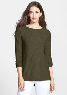 Eileen Fisher Slub Knit Bateau Neck Top (Regular & Petite) (Online Only)