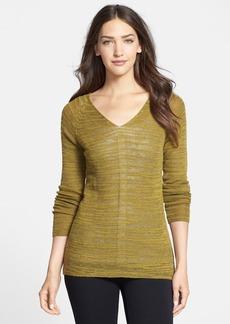 Eileen Fisher Slubbed Alpaca Blend V-Neck Sweater (Regular & Petite)