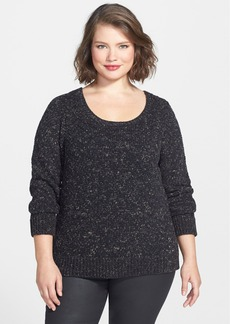 Eileen Fisher Soft Tint Scoop Neck Top (Plus Size)