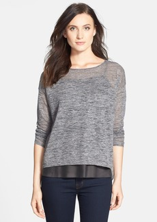 Eileen Fisher Speckle Knit Linen Blend Boxy Top (Online Only)
