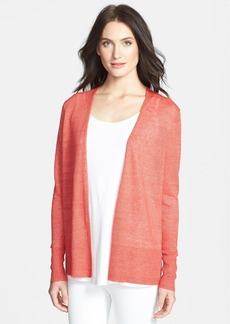 Eileen Fisher Straight Linen Cardigan (Regular & Petite)