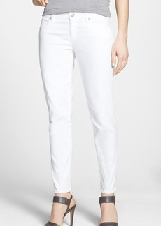 Eileen Fisher Stretch Denim Ankle Skinny Jeans (White) (Regular & Petite)