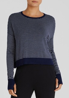 Eileen Fisher Stripe Drop Shoulder Sweater