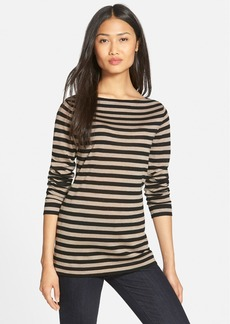Eileen Fisher Stripe Fine Gauge Merino Knit Tunic Top (Regular & Petite)