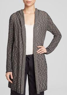 Eileen Fisher Stripe Hooded Long Cardigan - Bloomingdale's Exclusive