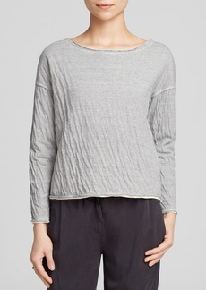 Eileen Fisher Stripe Linen Tee - Bloomingdale's Exclusive