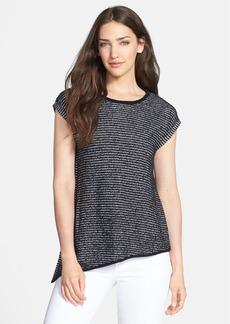 Eileen Fisher Stripe Organic Cotton Asymmetric Top