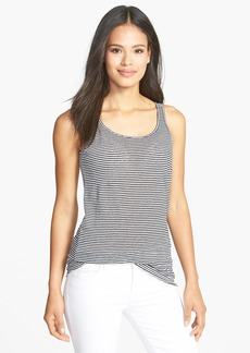 Eileen Fisher Stripe Organic Linen Long Slim Tank