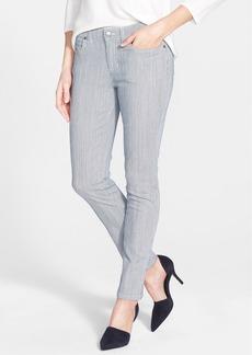 Eileen Fisher Stripe Stretch Slim Boyfriend Jeans (Chambray) (Regular & Petite)