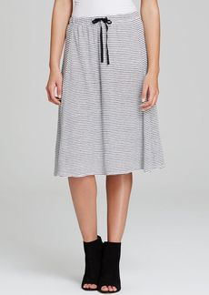 Eileen Fisher Striped Linen Drawstring Skirt