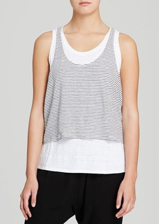 Eileen Fisher Striped Scoop Neck Tank