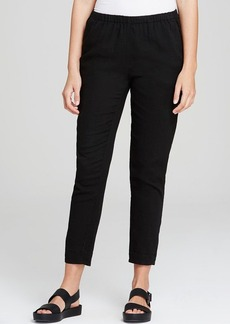 Eileen Fisher Tapered Cotton Ankle Pants