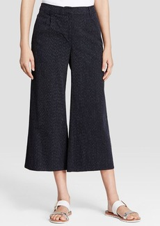 Eileen Fisher Textured Denim Gaucho Pants