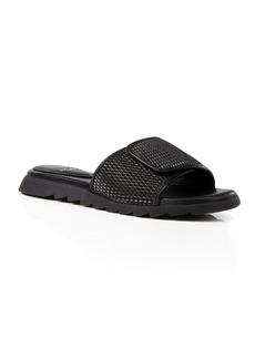Eileen Fisher Textured Leather Slide Sandals
