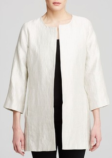 Eileen Fisher Textured Open Front Jacket