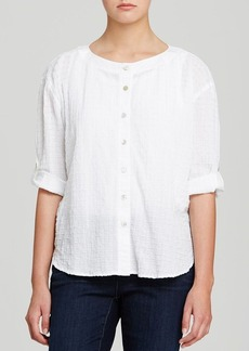 Eileen Fisher Textured Roll Sleeve Top
