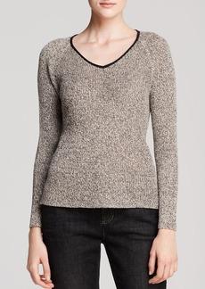 Eileen Fisher Textured V Neck Top