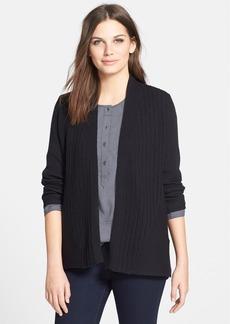 Eileen Fisher Textured Wool Cardigan (Petite)