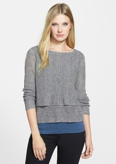 Eileen Fisher The Fisher Project Bateau Neck Tiered Linen Blend Sweater