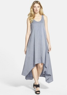 Eileen Fisher The Fisher Project Chambray Racerback High/Low Dress