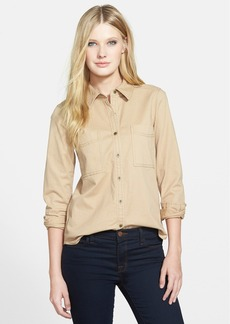 Eileen Fisher The Fisher Project Classic Collar Cotton Twill Shirt