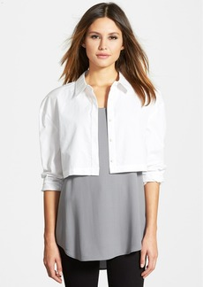 Eileen Fisher The Fisher Project Classic Collar Crop Shirt