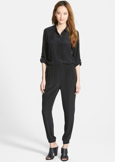 Eileen Fisher The Fisher Project Classic Collar Silk Jumpsuit