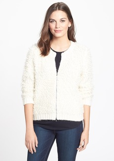 Eileen Fisher The Fisher Project Fuzzy Knit Bomber Jacket