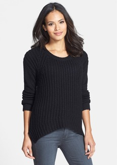 Eileen Fisher The Fisher Project Round Neck High/Low Wool Blend Sweater