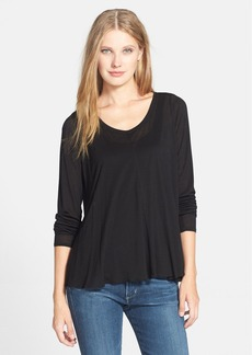Eileen Fisher The Fisher Project Scoop Neck Jersey Top