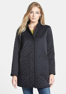 Eileen Fisher The Fisher Project Stand Collar Quilted Long Jacket