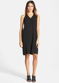 Eileen Fisher The Fisher Project V-Neck Racerback Silk Dress